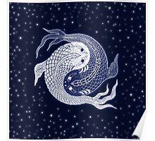 yin yang in space! Poster