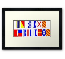 Go Navy, Beat Army in Signal Flags Framed Print