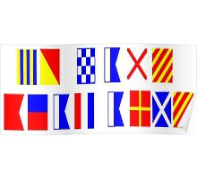 Go Navy, Beat Army in Signal Flags Poster
