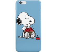 Snoopy Eats Cherry iPhone Case/Skin