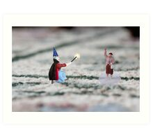 The hat, cape and wand do not make you a magician Thomas, and you have NOT discovered Instagram! Art Print