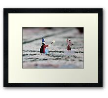 The hat, cape and wand do not make you a magician Thomas, and you have NOT discovered Instagram! Framed Print