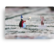 The hat, cape and wand do not make you a magician Thomas, and you have NOT discovered Instagram! Metal Print