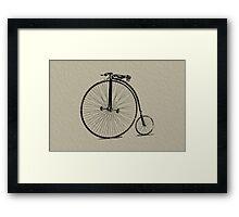 Vintage Bike Framed Print