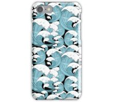 pattern of sea waves iPhone Case/Skin