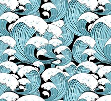 pattern of sea waves by Tanor