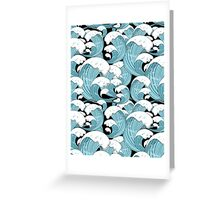 pattern of sea waves Greeting Card