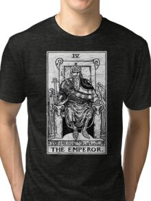 The Emperor Tarot Card - Major Arcana - fortune telling - occult Tri-blend T-Shirt