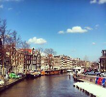 Amsterdam Canal  by Bernie McCann