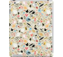 pattern of funny birds iPad Case/Skin