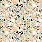 pattern of funny birds by Tanor