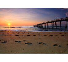 Dawn Footprints, OBX Photographic Print