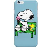 Snoopy and Woodstock Ice Cream iPhone Case/Skin