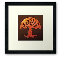 Tree of Life, Woodcut (viviána) Framed Print