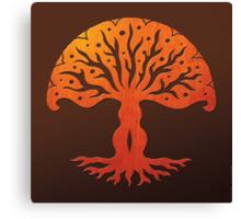 Tree of Life, Woodcut (viviána) Canvas Print