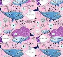 pattern of whale lovers by Tanor