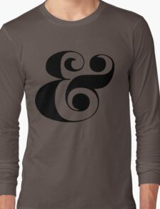 Ampersand (Eloquent Swash) Long Sleeve T-Shirt