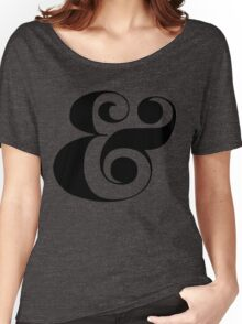Ampersand (Eloquent Swash) Women's Relaxed Fit T-Shirt