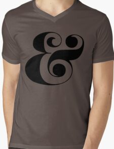 Ampersand (Eloquent Swash) Mens V-Neck T-Shirt