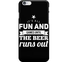 Fun and Games (black and white) iPhone Case/Skin