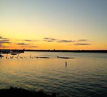 Sault Ste Marie Sunset by Arthur Sturdevant