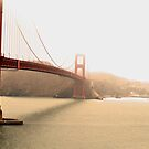Foggy Golden Gate Bridge, San Fransisco by Prettyinpinks