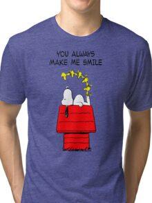 Snoopy Smiling Tri-blend T-Shirt