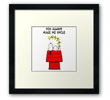 Snoopy Smiling Framed Print
