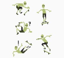 Mini Pixel Skaters - Set of 5 by pixelatedcowboy