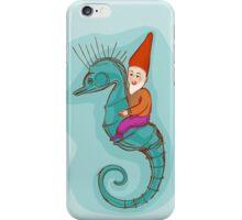 fairytale dwarf riding a seahorse iPhone Case/Skin