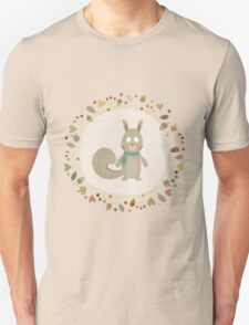 The Autumn Squirrel Unisex T-Shirt