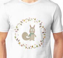 The Autumn Squirrel Unisex T-Shirt