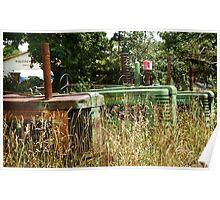 John Deere Graveyard rustic tractor photography Poster