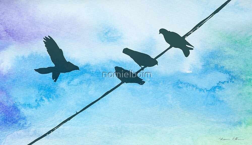 Doves on wire by nomielboim