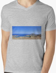 Lindos Panorama Mens V-Neck T-Shirt