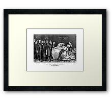 Death Of President Lincoln Framed Print