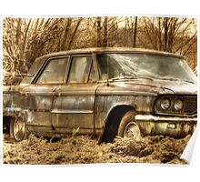 Abandoned Car rustic rural decay Poster