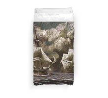 USS Constellation Engages the Insurgence Duvet Cover