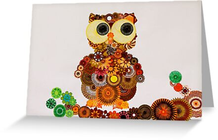 Spirograph Owl! by RachelEDesigns