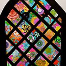 Spirograph Stained Glass Window by RachelEDesigns