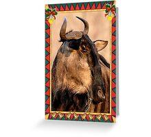 African Wildebeest Blank Christmas Greeting Card Greeting Card