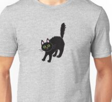 Tousled black cat. Halloween. Unisex T-Shirt