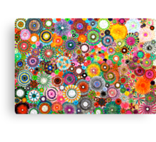 Childhood Dreams -filtered Spirograph Art Canvas Print