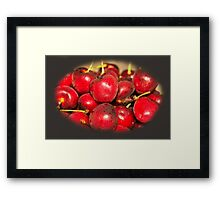 Cherries Delight Framed Print