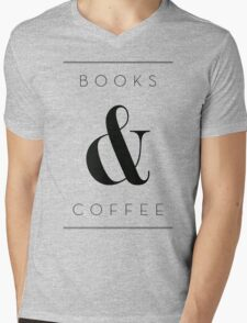 books & coffee Mens V-Neck T-Shirt