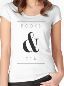books & tea Women's Fitted Scoop T-Shirt