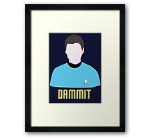 Dammit Leonard Bones McCoy Star Trek Portrait Framed Print