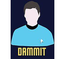 Dammit Leonard Bones McCoy Star Trek Portrait Photographic Print