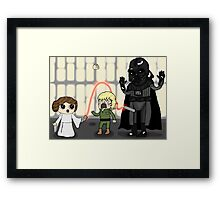 too much force Framed Print
