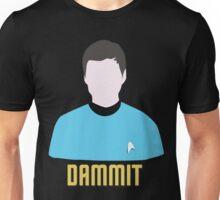 Dammit Leonard Bones McCoy Star Trek Portrait Unisex T-Shirt